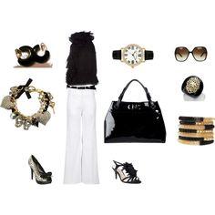 Black Ralph Lauren Sleeveless blouse. Love it!!, created by pamela-barrett-williamson.polyvore.com