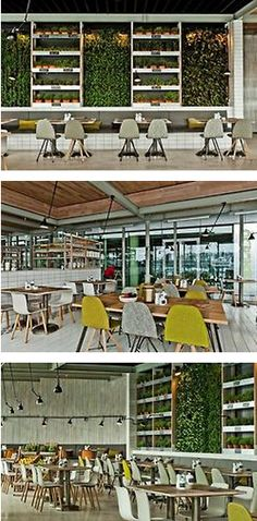 http://theydesign.net  Urban Industrial meets Nature in Bratislava's healthiest place in town, Mercado.