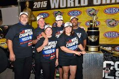 Antron Brown and Team are Crowned the 2015 NHRA T/F Mello Yellow Drag Racing series    Champions At the 2015 Fall Las Vegas Strip race in the Matco Tools Nitro Dragster