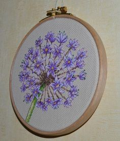 Floral Embroidery Hoop Art Gift For Her / Flowers Wall Décor / Embroidery Hoop Art, Floral Embroidery, Wall Décor, Framed Wall Art, Stitch Pictures, Floral Hoops, Wooden Hoop, Flower Wall Decor, Back Stitch