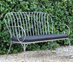 Parisian Outdoor Bench Seat   French style garden love seat   www.watergardenwarehouse.com.au