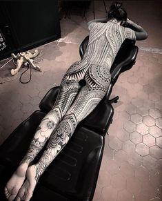 204 Likes, 4 Comments - Kitsune Floyd Full Body Tattoo, Life Tattoos, Body Art Tattoos, Sleeve Tattoos, Tattoos For Guys, Tattoos For Women, Great Tattoos, Black Tattoo Art, Black Tattoos