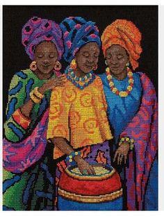 African Lady x-stitch