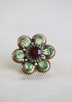 Olivine Flower Ring By Ollipop 35.99