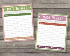 Note to Self Cards.. printable by lorraine