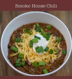 This chili uses a smoker and spices to help develop a deep smoky flavor and great texture in every bite.