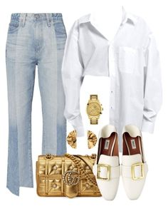 Untitled #795 by annap-style on Polyvore featuring moda, AG Adriano Goldschmied, Gucci, GUESS and Sabrina Dehoff