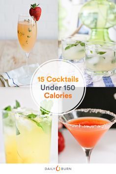 Don't give up your favorite happy hour concoctions just because you're trying to cut back. Sip on these low-calorie cocktails instead. via @dailyburn