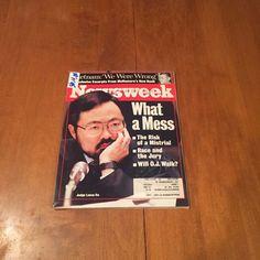 Newsweek Magazine What A Mess April 17 1995 OJ Simpson Trial Judge Lance Ito