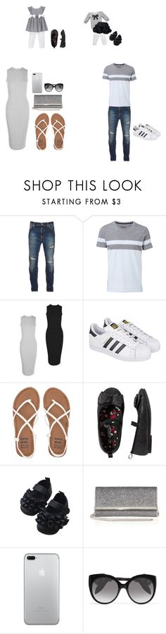 """""""Goin Out / With The Fam"""" by jamelicawooten39 ❤ liked on Polyvore featuring Nudie Jeans Co., Witchery, Boohoo, adidas, Billabong, Carter's, Jimmy Choo and Alexander McQueen"""