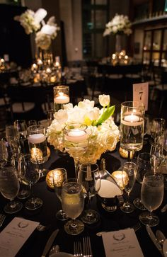 Alle + Brian | Bob Bullock History Museum | Austin, TX | Jake Holt | New Year's Eve Wedding | Westbank Flowers | White Wedding Flowers | Table Settings | Centerpieces | Wedding and Events Blog | Pearl Events Austin