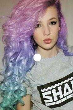 awesome rainbow hair.