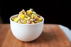 Corn Salad with Cilantro & Caramelized Onions recipe from Food52