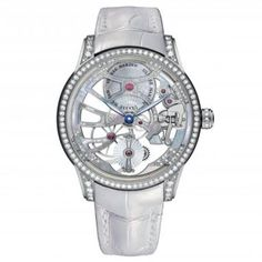 New Ulysse Nardin Skeleton Tourbillon Dazzles with Diamonds and Mother-of-Pearl