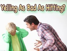 "Smart Health Talk Pick: Yelling as Bad as Hitting according to new study. Deal w/strong willed child always struggle. According to Parent Project: http://www.parentproject.com/ most important to keep saying ""I love you"" every way you can think of which is hard when child makes you angry.  Even if can't attend Parent Project training (best practical advice on how to react to child we've found) then try and get their materials to study."