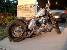 1976 old school Harley Davidson rat bike