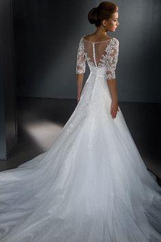 http://www.misaislestyle.com/v-neck-lace-half-sleeves-wedding-dress.html