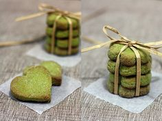 Matcha Shortbreads by wenday :D, via Flickr