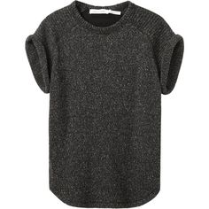 Étoile Isabel Marant Nanette Top ($365) ❤ liked on Polyvore featuring tops, t-shirts, shirts, tees, crew neck t shirt, short shirts, crewneck tee, thick t shirts and raglan sleeve shirts