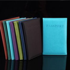 New Fashion PU Card Holder Women Travel Passport Holder Business Passport Cover ID Credit Card Holder Men Passport Wallet #clothing,#shoes,#jewelry,#women,#men,#hats,#watches,#belts,#fashion,#style