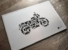 Motorcycle Collage of Bikes Choppers Dirt Bikes and by frippdesign