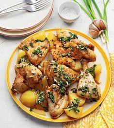 Maneca de pui cu cartofi 0 Chicken Wings, Curry, Meat, Cooking, Ethnic Recipes, Food, Kitchen, Curries, Essen