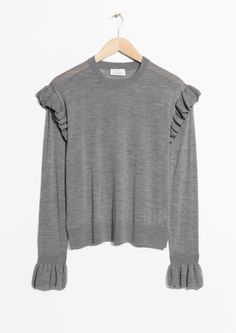 & Other Stories | Frill Merino Wool Sweater