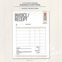 Invoice Template Photography Invoice Business Invoice  Cleaning