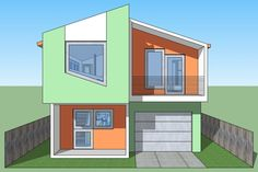 Modern Style House Plan - 2 Beds 2 Baths 1141 Sq/Ft Plan #474-41 Exterior - Front Elevation - Houseplans.com