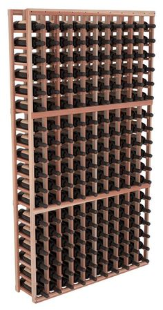 Handmade Wooden 10 Column 180 Bottle Standard Wine Cellar Kit in Premium Redwood. 13 Stain Combinations to Choose From! Tapas Bar, Wine Racks America, Wine Cellar Racks, Barolo Wine, Wine Cellar Design, Rack Design, Italian Wine, Wine Storage, Wine Racks
