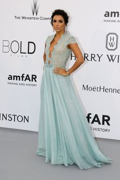 Eva Longoria in a Goerges Hobeika gown at Cannes.  Click to see more red carpet style from Cannes Film Festival 2015. Photo: Regis Duvignau/Reuters