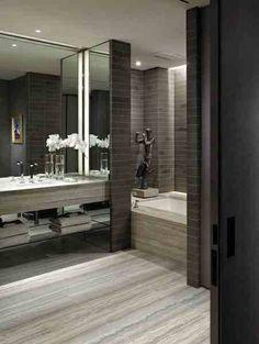 Mirror behind vanity
