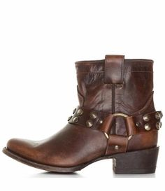 Corral Women's Harness Short Cowgirl Boots with Studs - Sierra Tan