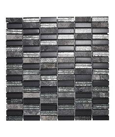 Glass and Lantau Grey™ Brick Mosaic Tile