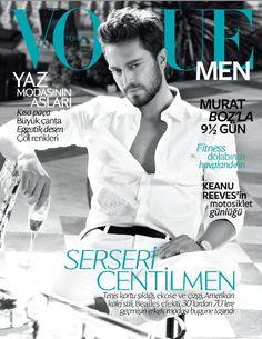 Turkish singer Murat Boz on the June cover of Vogue Men Turkey