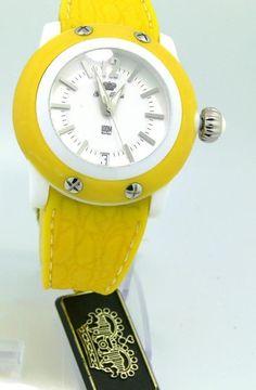 New Glam Rock Watch Women's GR23000 Miami Beach Yellow Silicone Bracelet #GlamRock #Casual