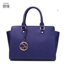 New Stylish Famous Brand Design Women s Handbags Genuine Leather Messenger  Bags Phone Pocket Big Capacity Ladies Shoulder Bags 91443ae8298af