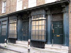 One of the oldest shop fronts in London - early 18th Century. Artillery Lane, Whitechapel. This was taken before my paint analysis.