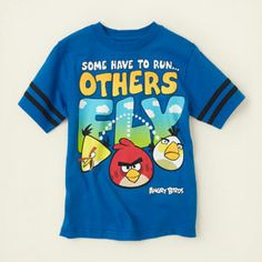 2a4d97e33e43 boy - graphic tees - Angry Birds fly graphic tee
