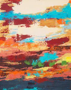 "Desert Sky by Hilary Winfield | $250 | 16""w x 20""h | Original Art | http://www.vangoart.co/buy/art/desert-sky @VangoArt"