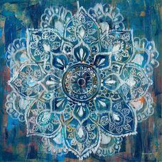 Mandala in Blue II Art Print by Danhui Nai at Art.com