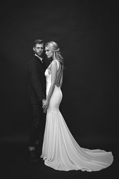 The Monaco Gown by Katie May / Photographer: Christina Morgan Photography / Hair & Make-up: Scarlett Pontious / Bride's Jewelry: Luv AJ / Flowers & Decor: Yvette Mendoza / Bride: Devon, Hollywood Model Management / Groom: Nevin Pontious