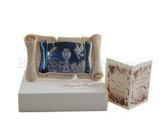 Graziosa bomboniera per la Prima Comunione in marmo di Carrara di resina ricomposta con applicazione in argento bilaminato di un calice...