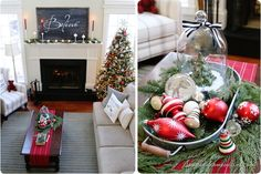 Gorgeous home set up for Christmas