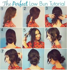 This low bun is one of my favorite holiday hair-dos! So simple and classy for holiday dinner parties with friends and family!