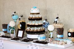Baby Shower Dessert Table Ideas | Twins Baby Shower Dessert Table - Dreamers Into Doers ...