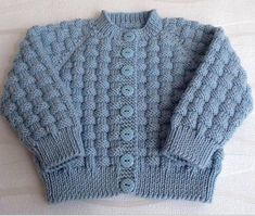 hand knitted blue baby cardigan cashmerino baby by emilyandevelyn - PIPicStats Baby Boy Knitting Patterns, Baby Cardigan Knitting Pattern, Knitted Baby Cardigan, Knit Baby Sweaters, Baby Pullover, Knitted Coat, Knitting For Kids, Baby Patterns, Free Knitting