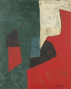 Serge Poliakoff (Russian, 1906-1969), Composition abstraite, 1958. Oil on canvas, 91.5 x 72.5 cm.