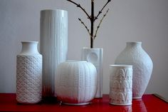 my collection of white vases