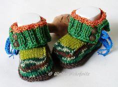 Strick- & Häkelschuhe - AKR  20 SommerMacke Babyschuhe  - ein Designerstück von strickliene bei DaWanda
